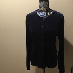 Tops - Women's Holiday Blue Velvet Party Top NY & Co XL